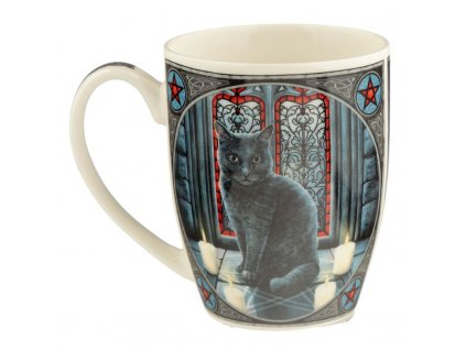 hrnek kočka s kočkou kočičí čarodějnice černá lisa parker pentagram 3