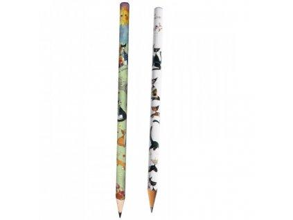 rosina wachtmeister tužka ceruzka černo bílá s kočkou s mačkou kačka kočka 2 kopie