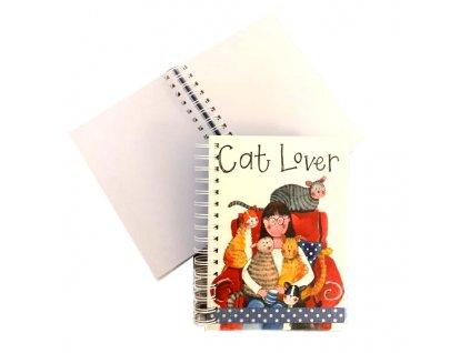 spirálový zápisník diář kočka s kočkou kočičí mačka s mačkou mačací notes alex clark 4