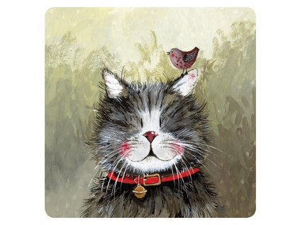 podložka pod hrnek podtácek kočka s kočkou kočičí mačka s mačkou mačacie alex clark