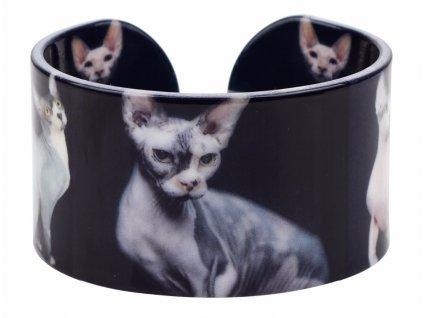náramek kočka s kočkou kočičí sphynx mačka s mačkou mačacie 5