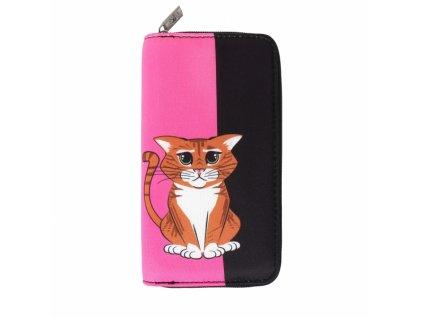 peněženka s kreslenou kočkou kočka kočičí kocour