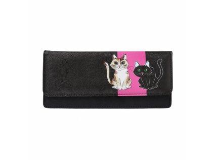 peněženka s kreslenou kočkou kočka kočičí dvě kočky velká
