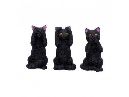 tři kočky dekorace s kočkou kočičí nevidím neslyším nemluvím