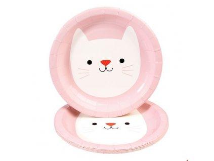 cookie papírové talíře kočka s kočkou kočičí