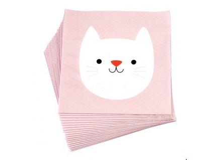 cookie papírové ubrousky kočka s kočkou kočičí