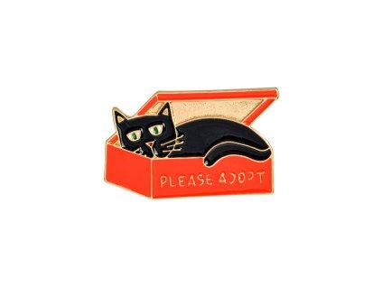 brož kočka s kočkou kočičí čená adopce