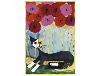 blahopřání kočka s kočkou kočičí vlčí máky Rosina Wachtmeister 2
