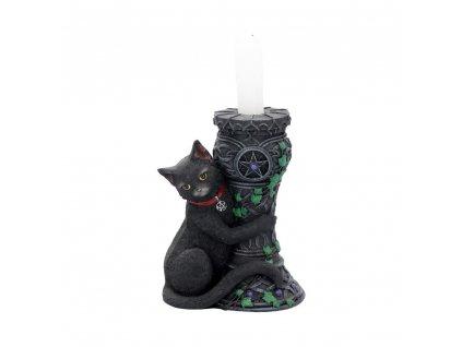 svícen kočka s kočkou kočičí s pentagramem
