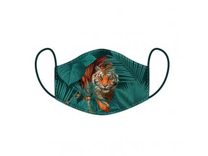 maska rouška kočka s kočkou kočičí tygr
