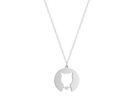 náhrdelník ocelová kočka s kočkou kočičí