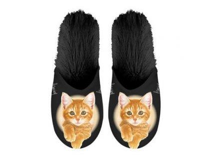pantofle boty kočka s kočkou kočičí zrzavé