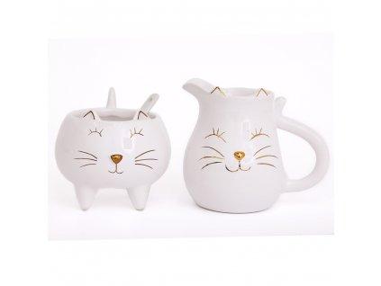sada cukřenka mléčenka kočka a kočkou kočičí