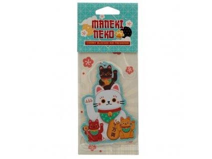 aroma do auta osvěžovač kočka s kočkou kočičí maneki neko lucky cat 3