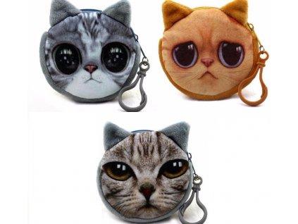 Plyšová peněženka / klíčenka kočka III
