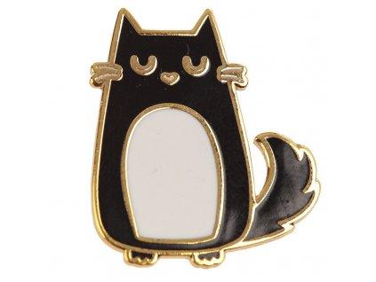 brož černá kočka s kočkou kočičí špendlík