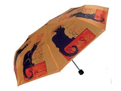 deštník skládací kočka s kočkou chat noir 2