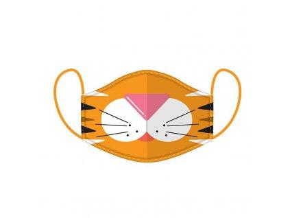 rouška koška s kočkou kočičí tygr