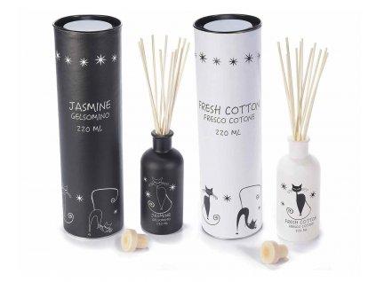 Aroma difuzér s kočkou - vůně jasmín, bavlna