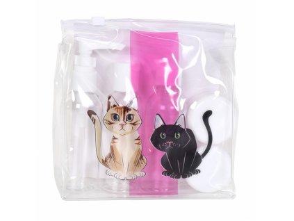 cestovní sada kočka s kočkou kočičí