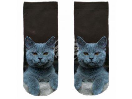 ponožky kočka s kočkou kočičí šedý kocour