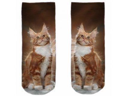 ponožky kočka s kočkou kočičí zrzavý kocour