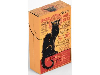 krabička na cigarety kočka s kočkou kočičí chat noir 2