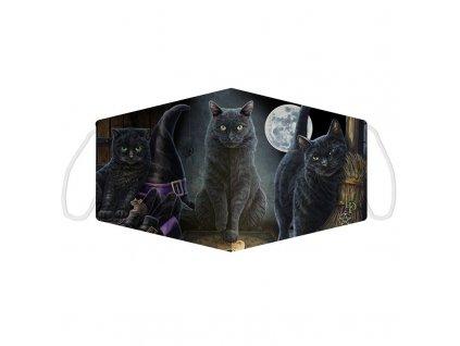 rouška maska kočka s kočkou kočičí lisa parker 2