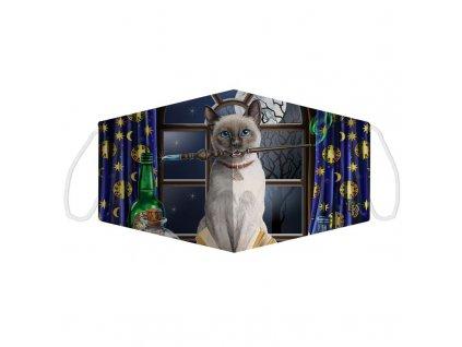 rouška maska kočka s kočkou kočičí čarodějnice lisa parker