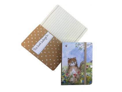 zápisník kočka s kočkou kočičí design Alex Clark