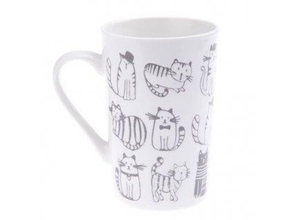 hrnek kočka s kočkou kočičí šedá 2