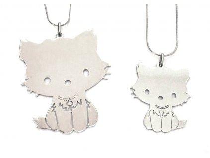 přívěsek kočka s kočkou kočičí hello kitty chirurgická ocel 4