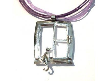 náhrdelník přívěsek kočka s kočkou kočičí na okně 4