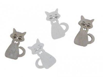 kreativní dřevěná kočka s kočkou kočičí dekorace