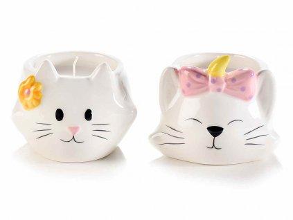svíčka kočka s kočkou kočičí kreamika