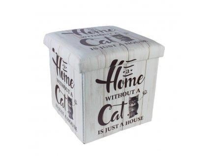 taburet kočka s kočkou kočičí