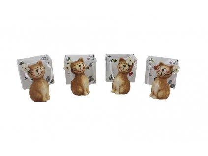 kočička pro štěstí v dárkové tašce
