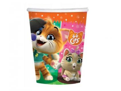 papírové kelímky kočka s kočkou kočičí 44 koček