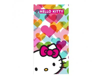 hello kitty ručník 70x140 polyester kočka s kočkou kočičí