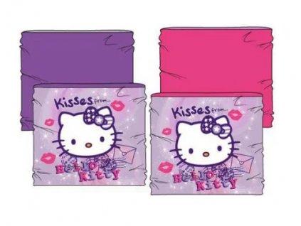 šála šátek tunel kočka s kočkou kočičí dětský Hello kitty