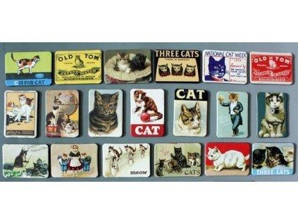 Nostalgické kočičí magnetky