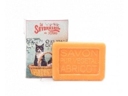 mýdlo malé kočka s kočkou kočičí meruňkové