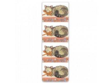 záložka magnetická kočka s kočkou kočičí