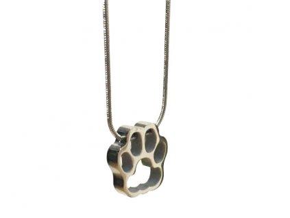 náhrdelník přívěsek kočka s kočkou kočičí tlapka chirurgická ocel 4