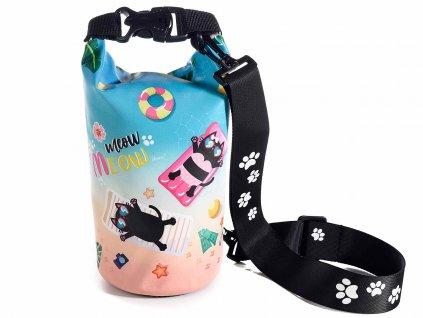 beach bag kabelka kočka s kočkou kočičí voděodolná plážová