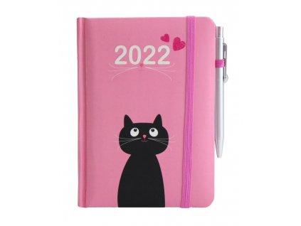 diář 2022 kočka s kočkou kočičí