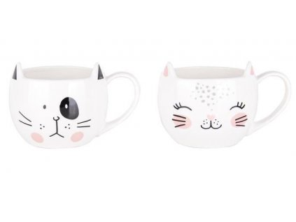 hrnek kočka s kočkou ušatý s ušima kočičí dva druhy