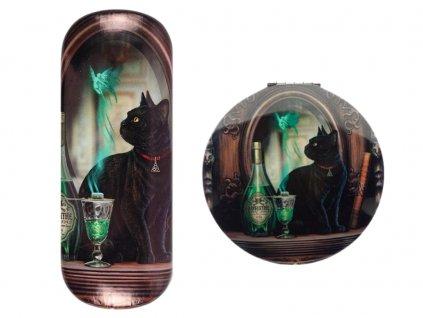 dárková sada kočka s kočkou kočičí zelená víla Lisa Parker