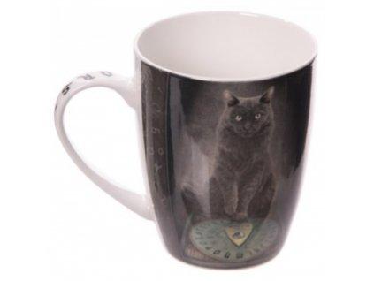 porcelánový hrnek kočka s kočkou kocourem kočičí Lisa Parker