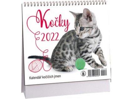 kalendář kočka s kočkou kočičí jména 2022